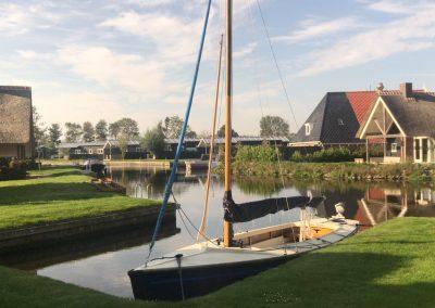 plaatje met zeilboot
